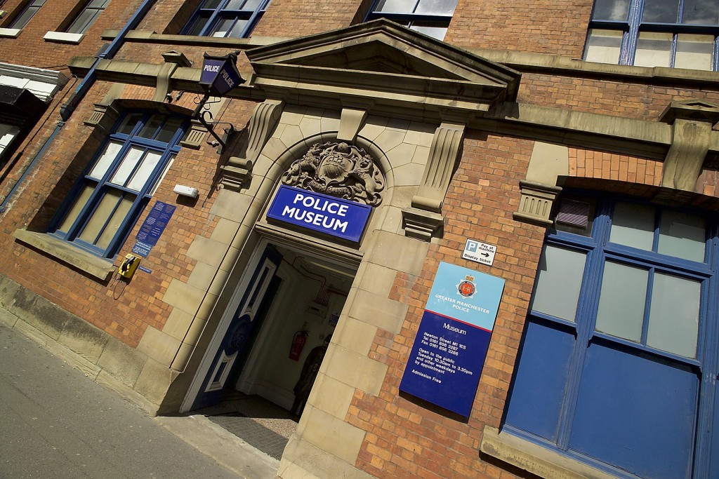Entrance to Greater Manchester Police Museum and Archives