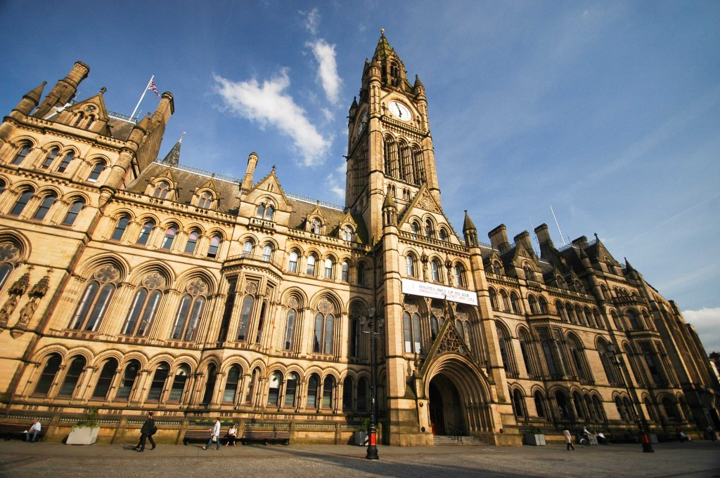 Impressive building of Manchester Town Hall