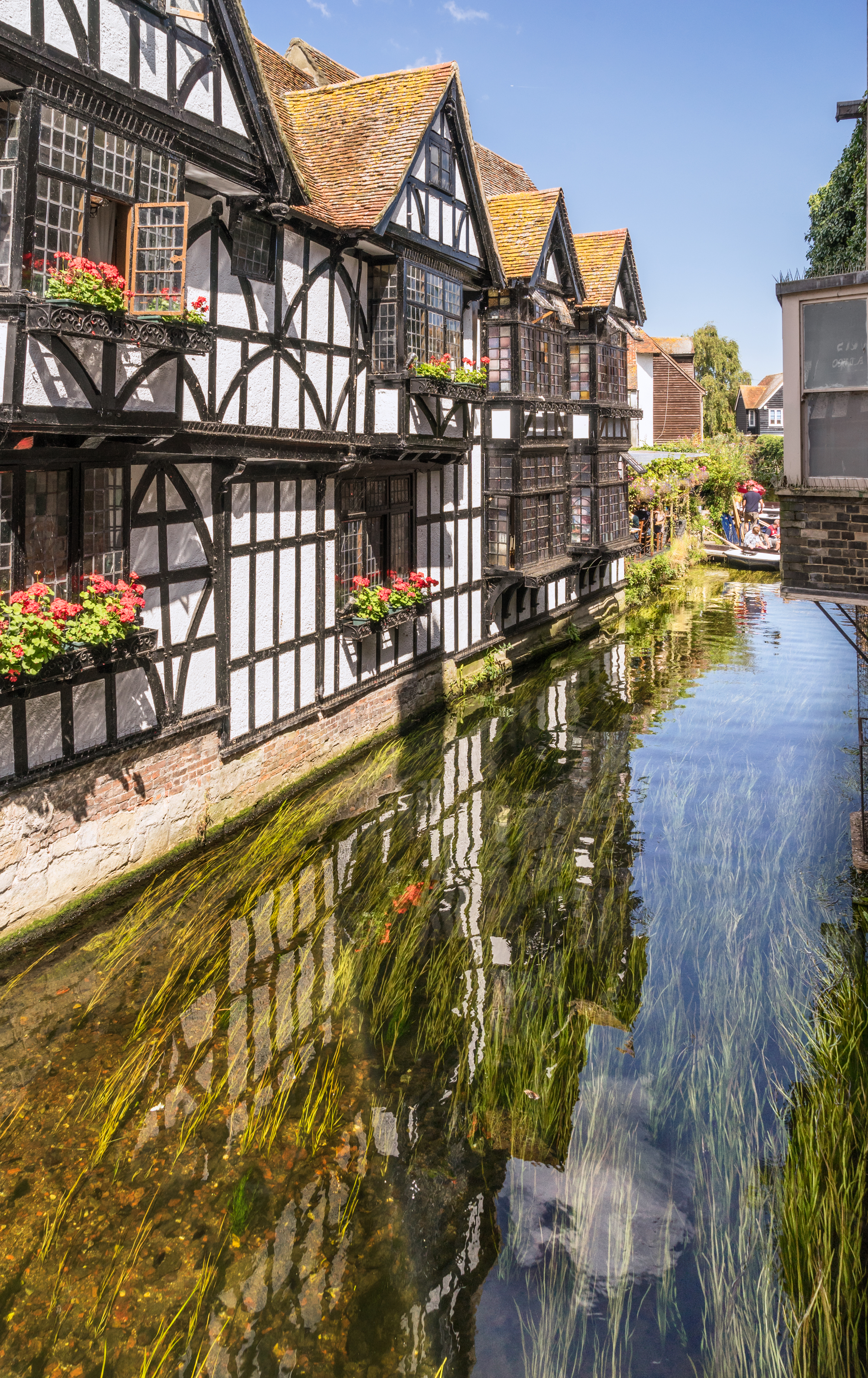 The River Stour in Canterbury, Kent, England