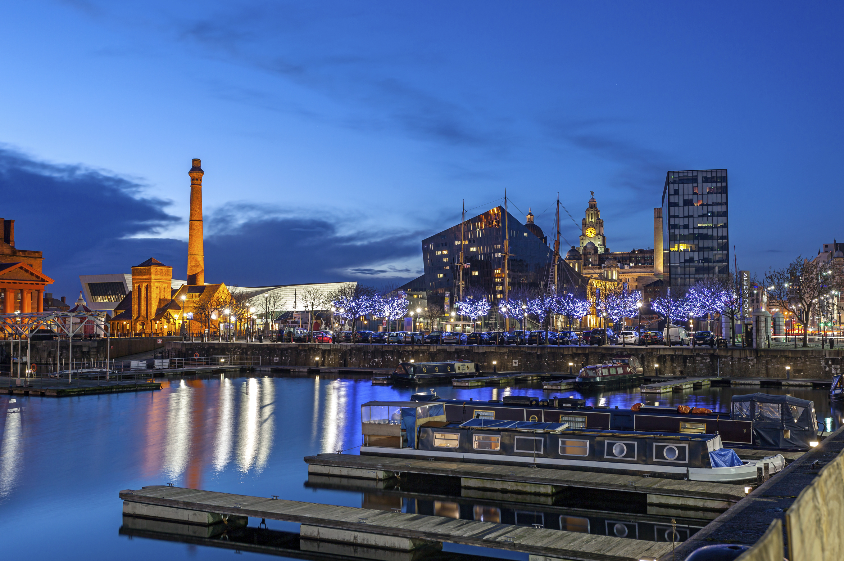 Liverpool skyline and waterfront