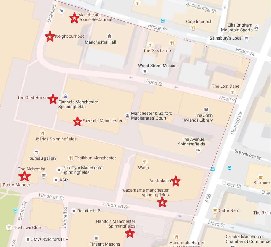Manchester_Spinningfields Restaurants and Bars