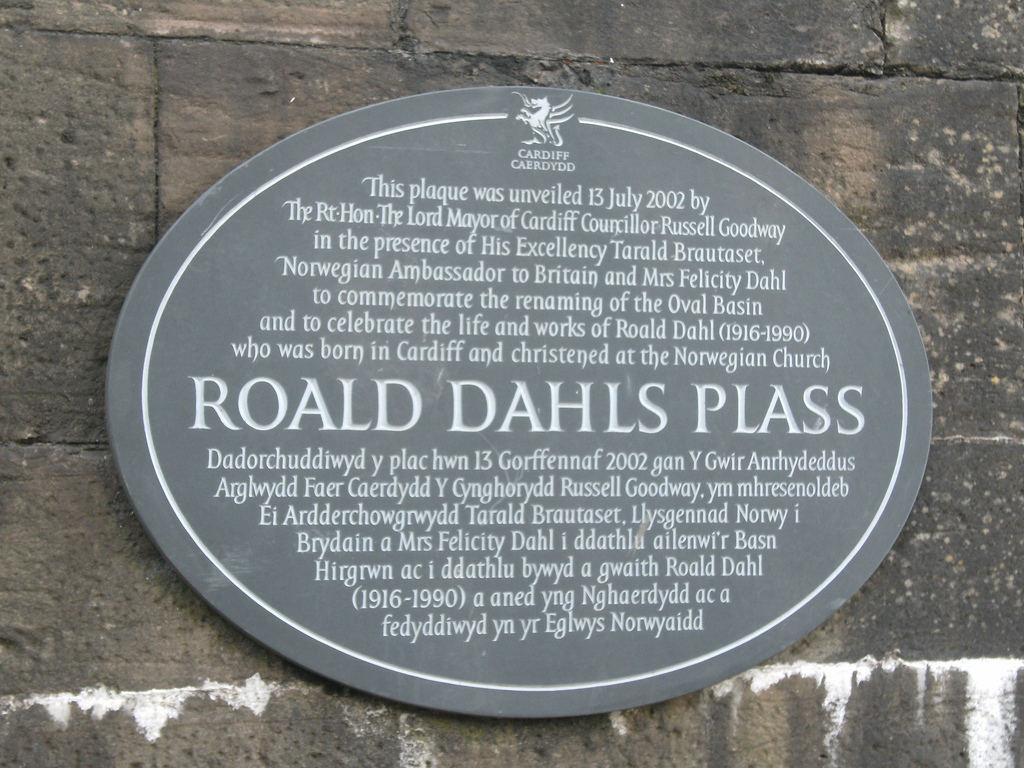 Roald Dahl Plaque in Cardiff