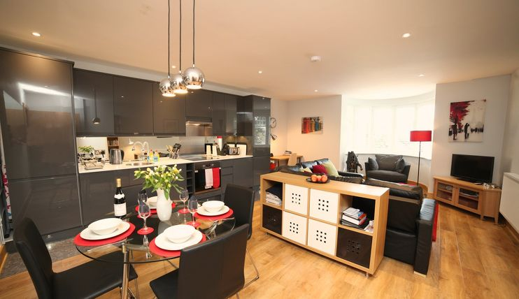 Charcoal Kitchen at Alban House Apartments, St. Albans