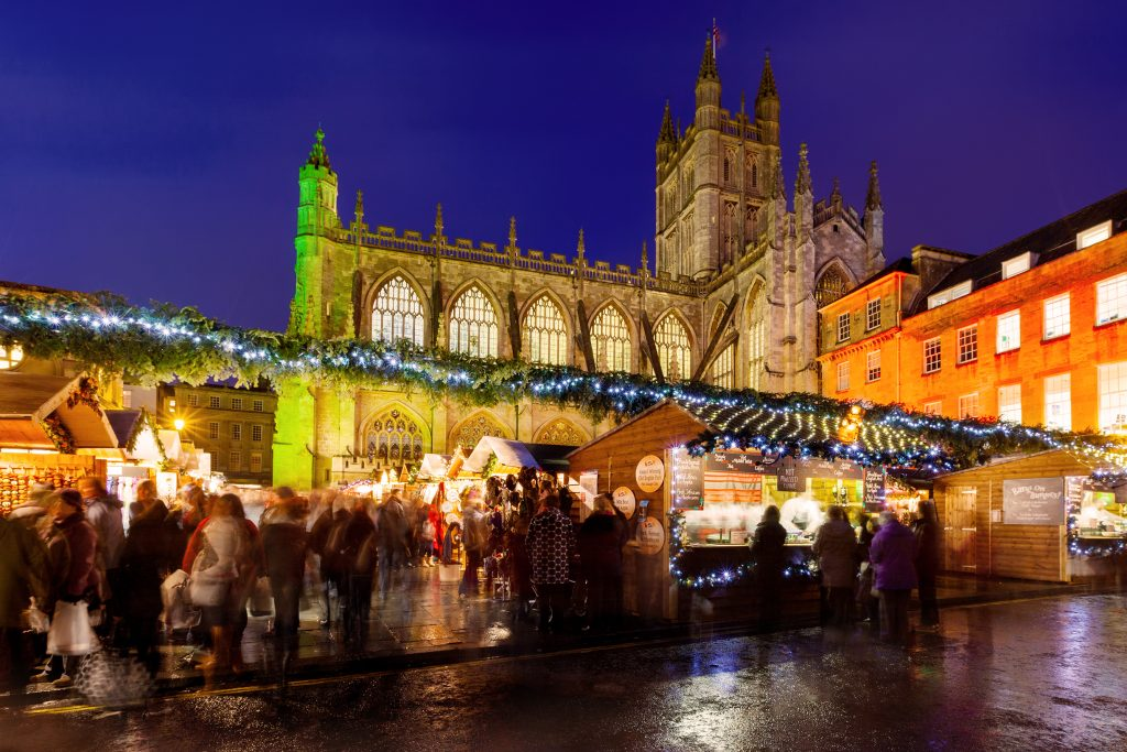 The christmas market in Bath