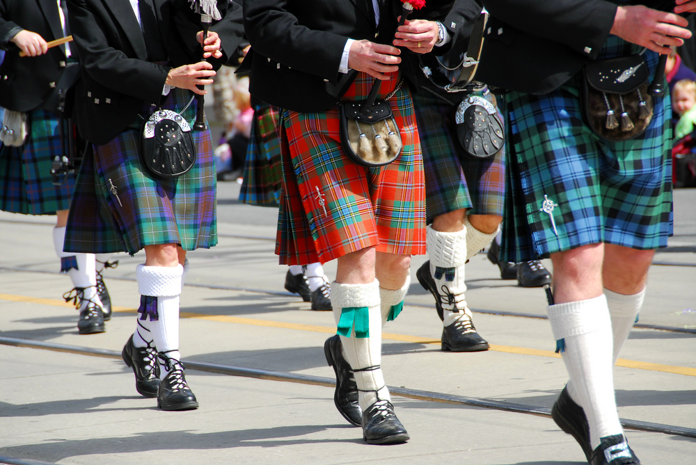 Kilt walk in Edinburgh