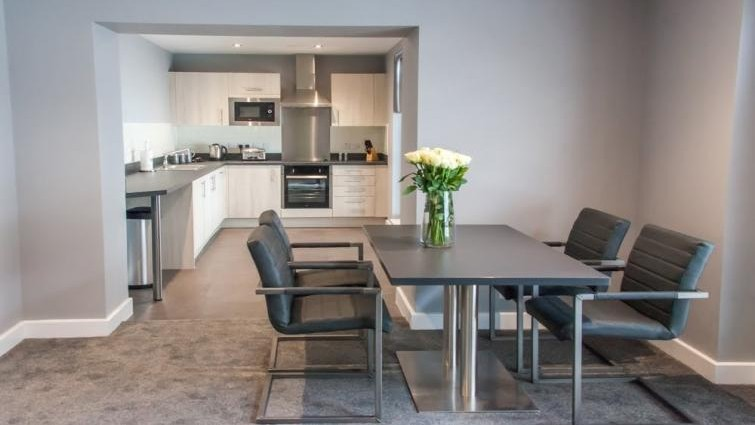 Living area at Dream Apartments Quayside Newcastle.