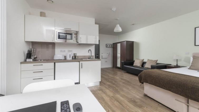 Open plan studio at Dream Apartments at Moorfields, Liverpool