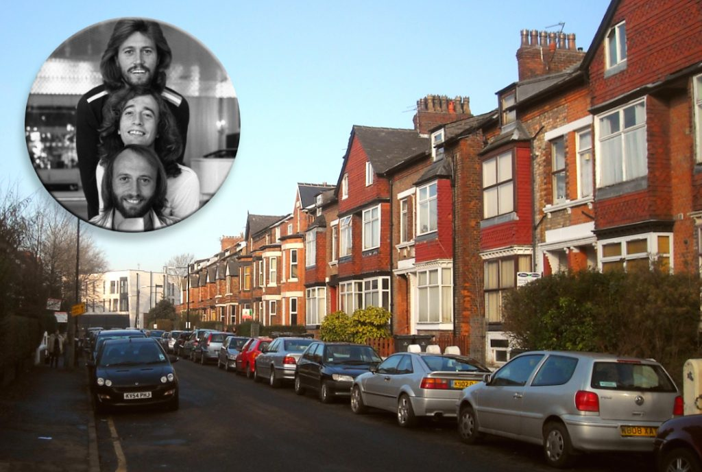 Chorlton street and the Bee Gees