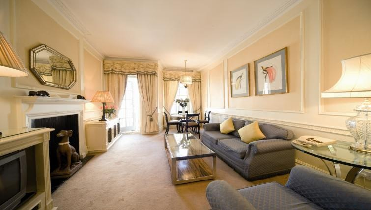 Luxury living room space at  44 Curzon Street Apartment