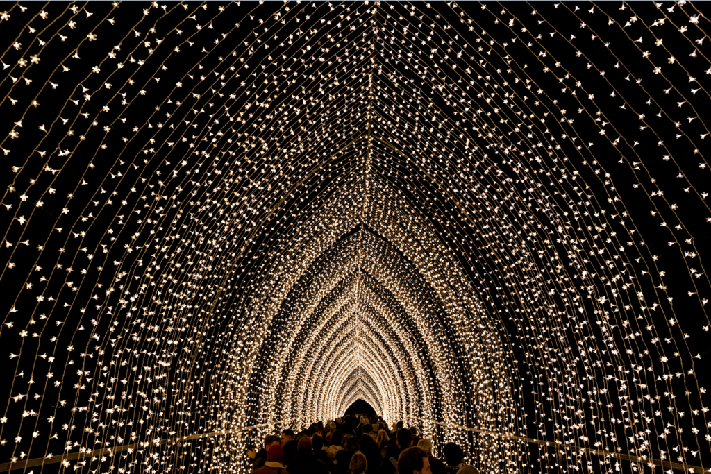 A light tunnel leading away
