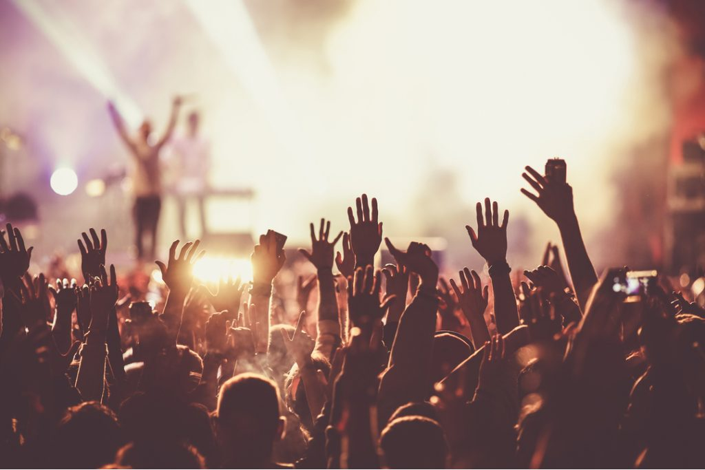 Crowds watch headline acts at music festival