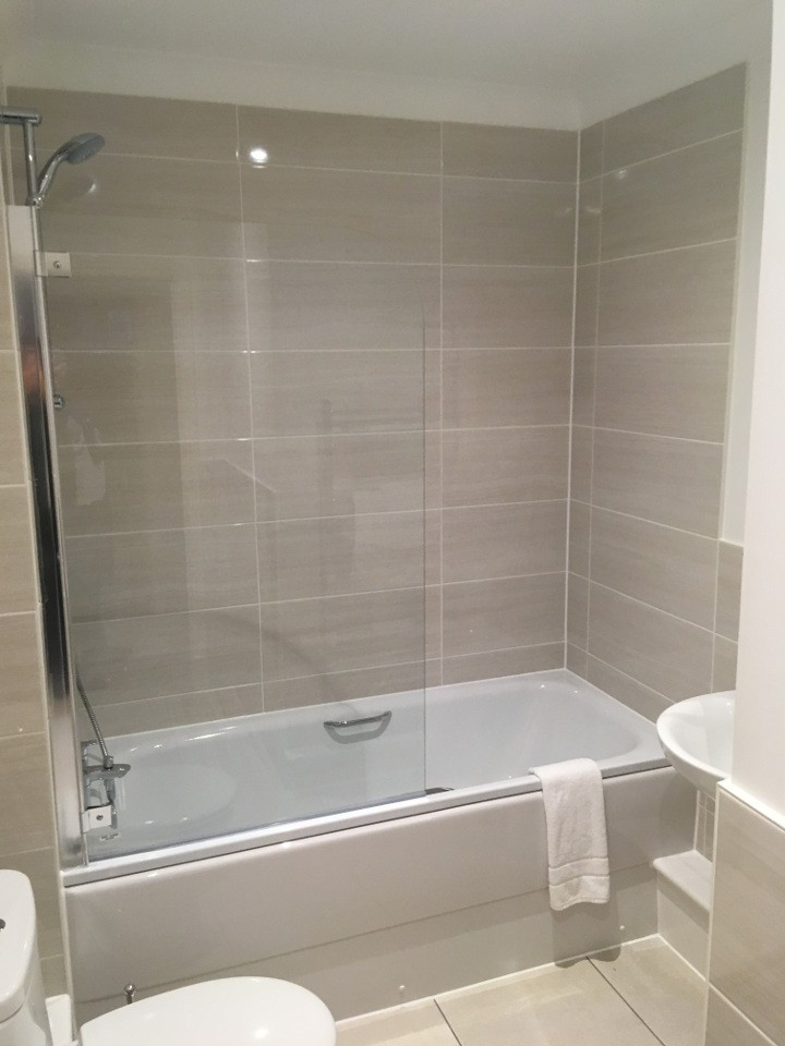 luxury bathroom with large shower