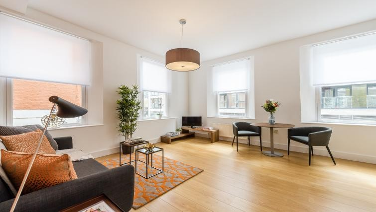 Living space at Native Aldgate Apartments