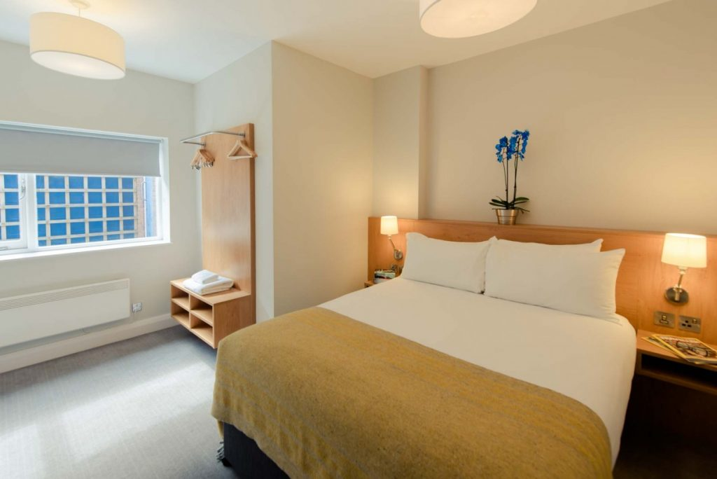 spacious bedroom and wardrobe