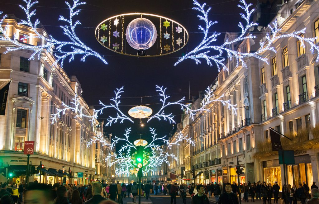 Regent Street and people shopping