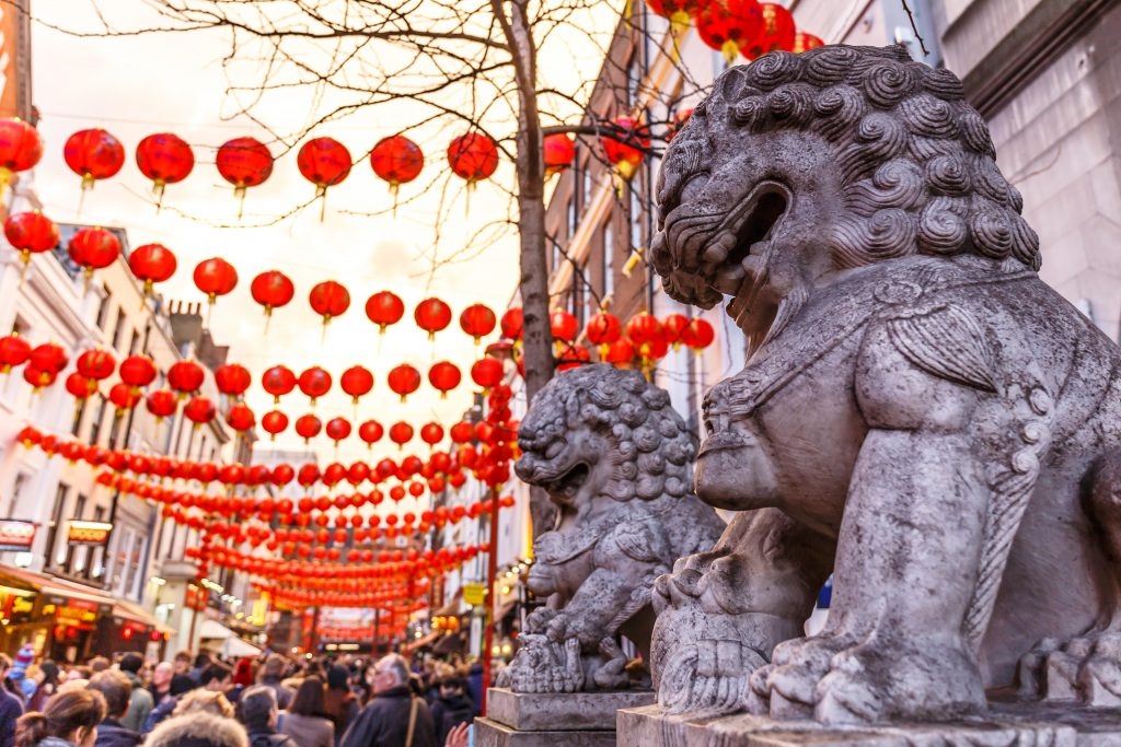 Chine Town decorated for New Year
