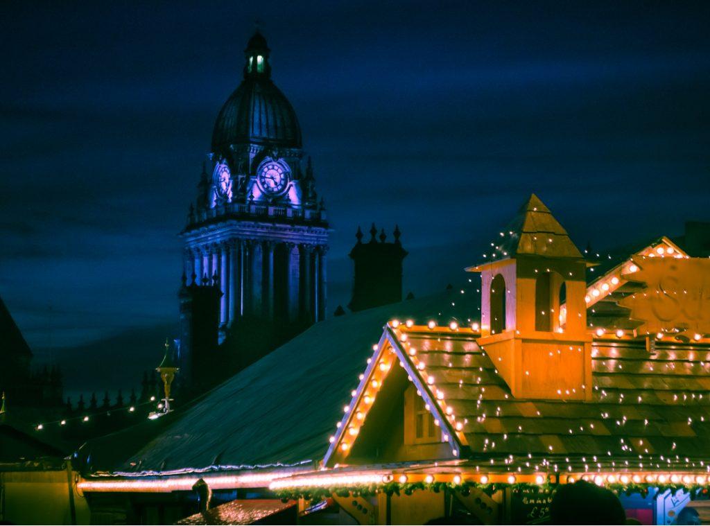 Leeds Christmas markets at night