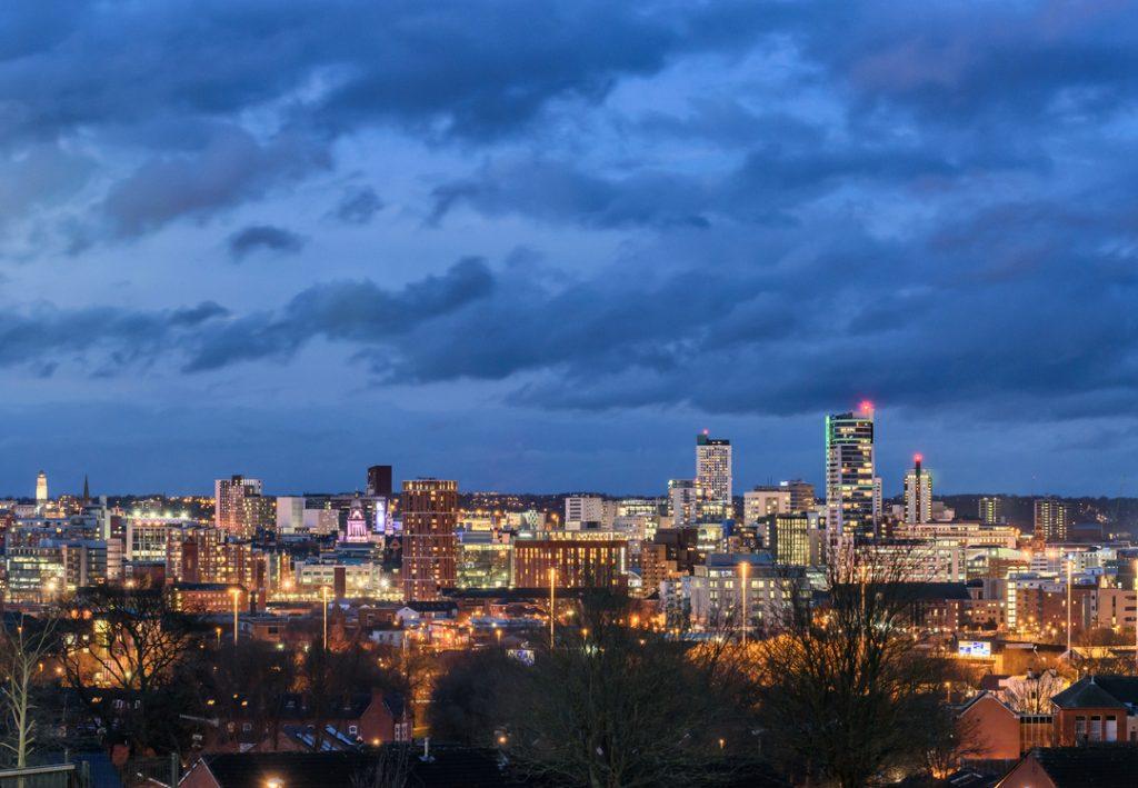 Leeds city skyline