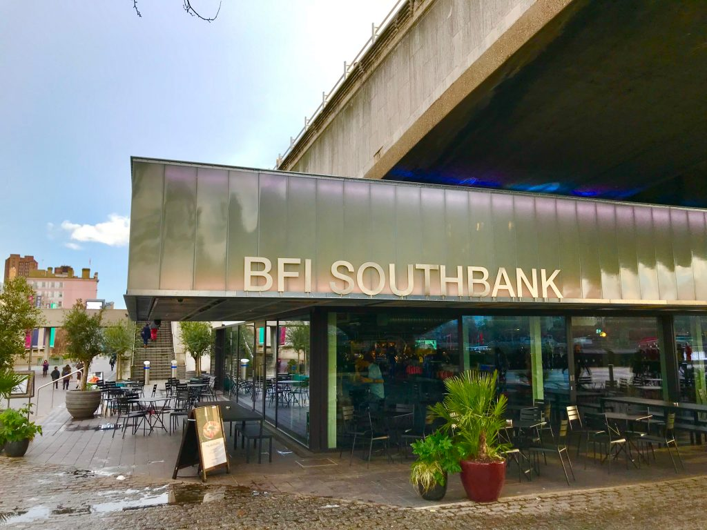 View of BFI Southbank and sign