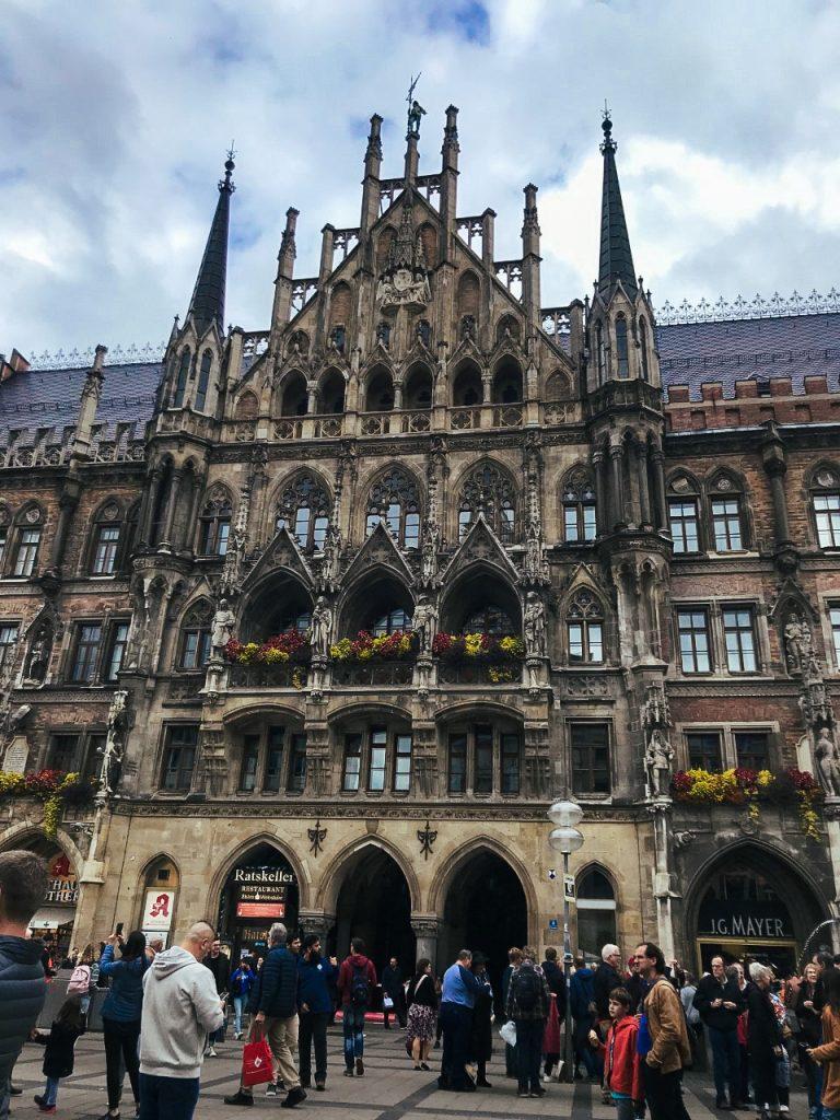 Marienplatz in the centre of the Old Town Munich