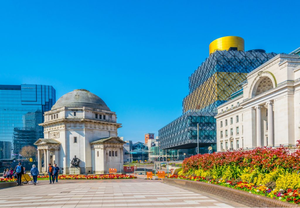 Hall of Memory and the Library of Birmingham