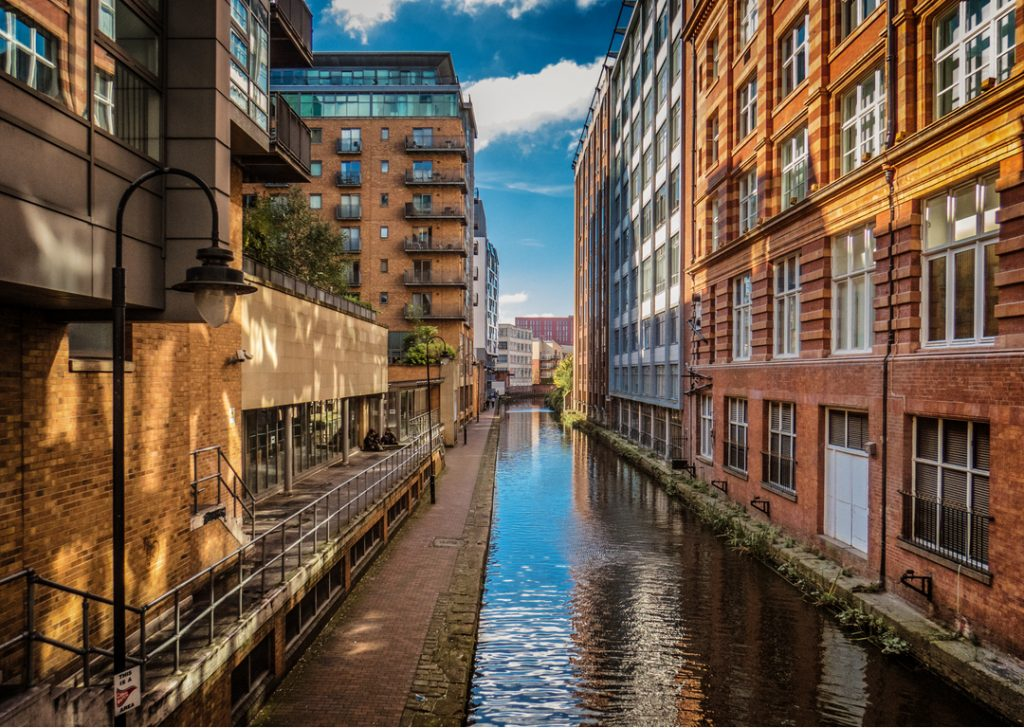 Canal in central Manchester