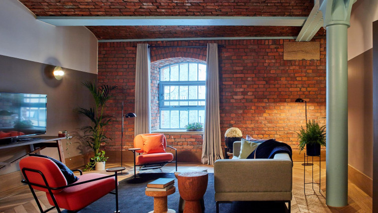industrial design features at Native Manchester Apartments