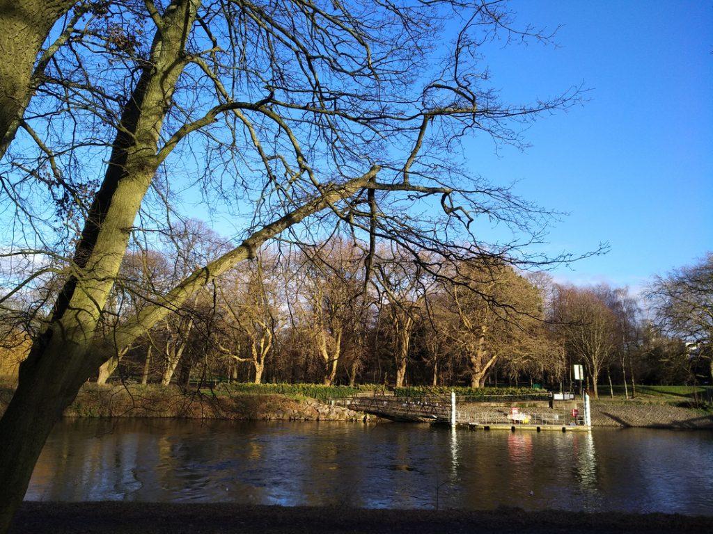Lake in Sophia Gardens Cardiff