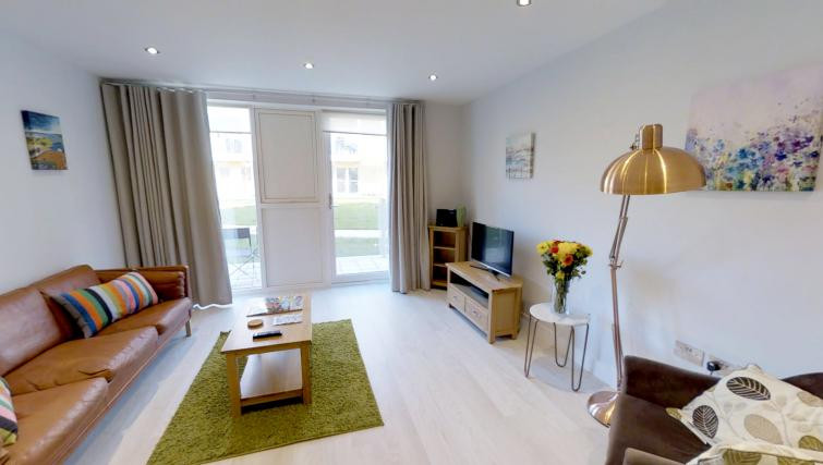 Bright living area of Vesta Cambridge Apartments