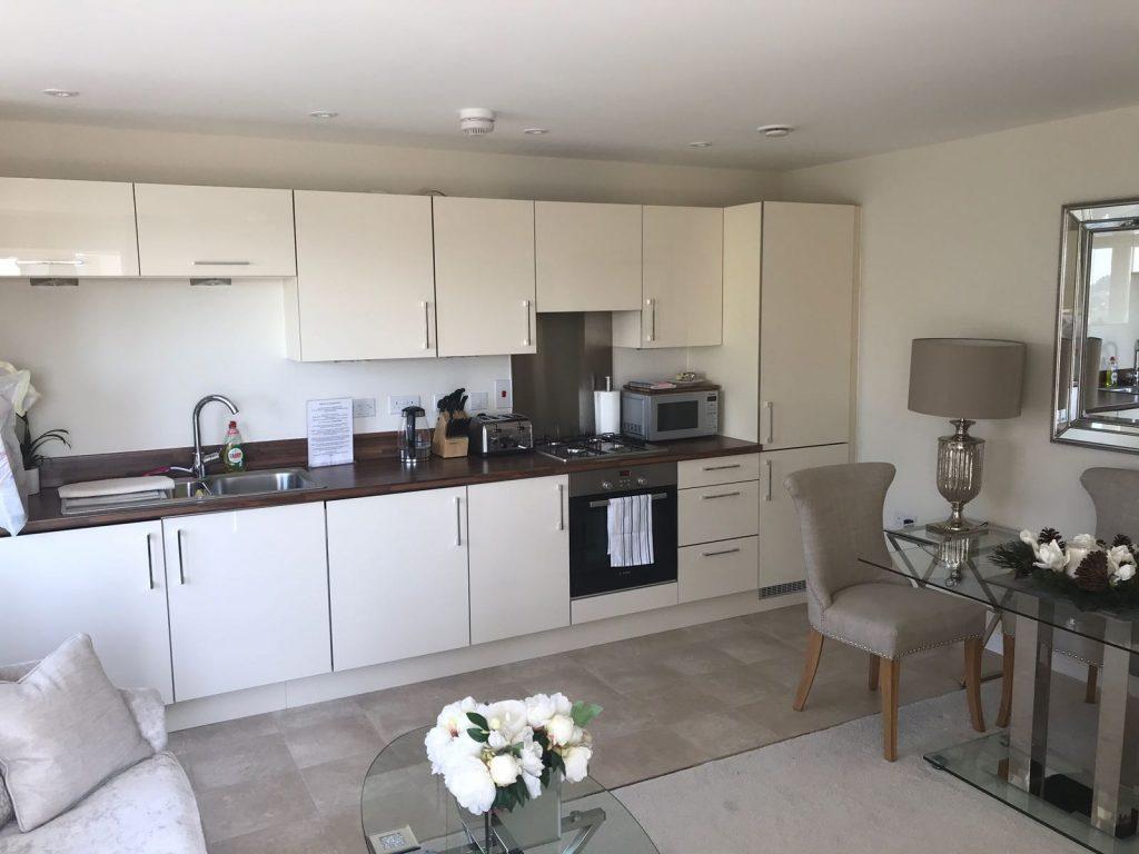 Comfortable kitchen area at Wain Close Apartment, Cardiff