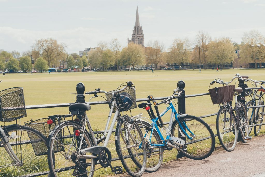Bikes parked in Cambridge, UK