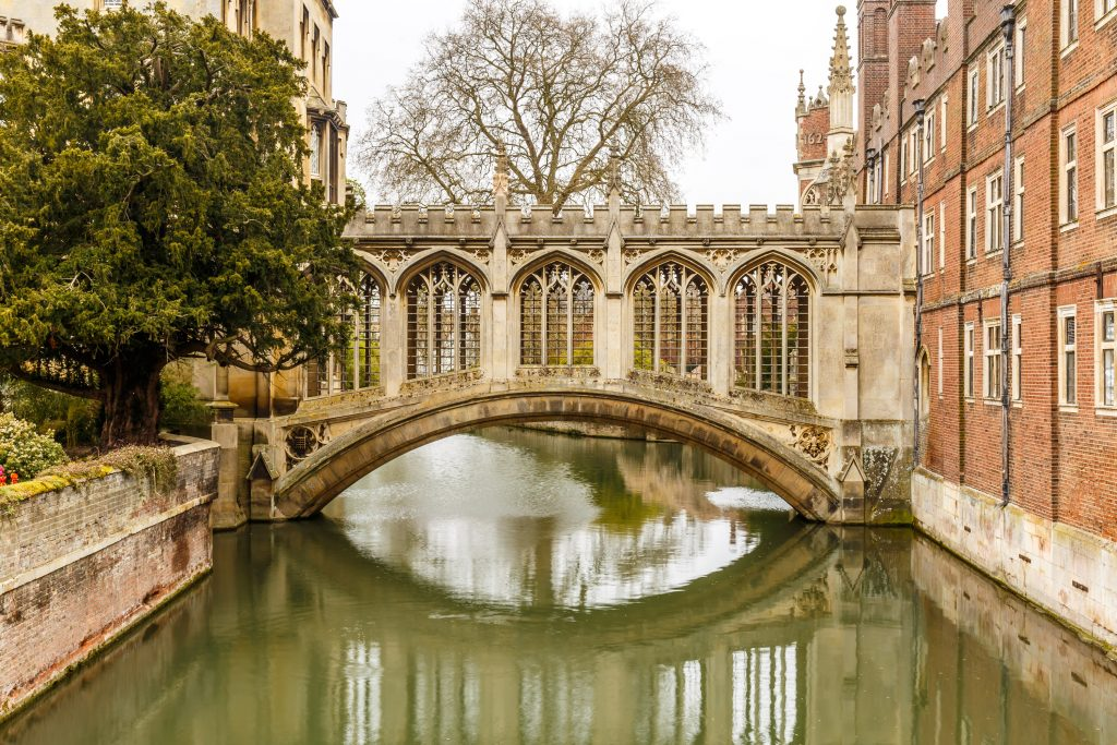 The Bridge of Sighs in Cambridge
