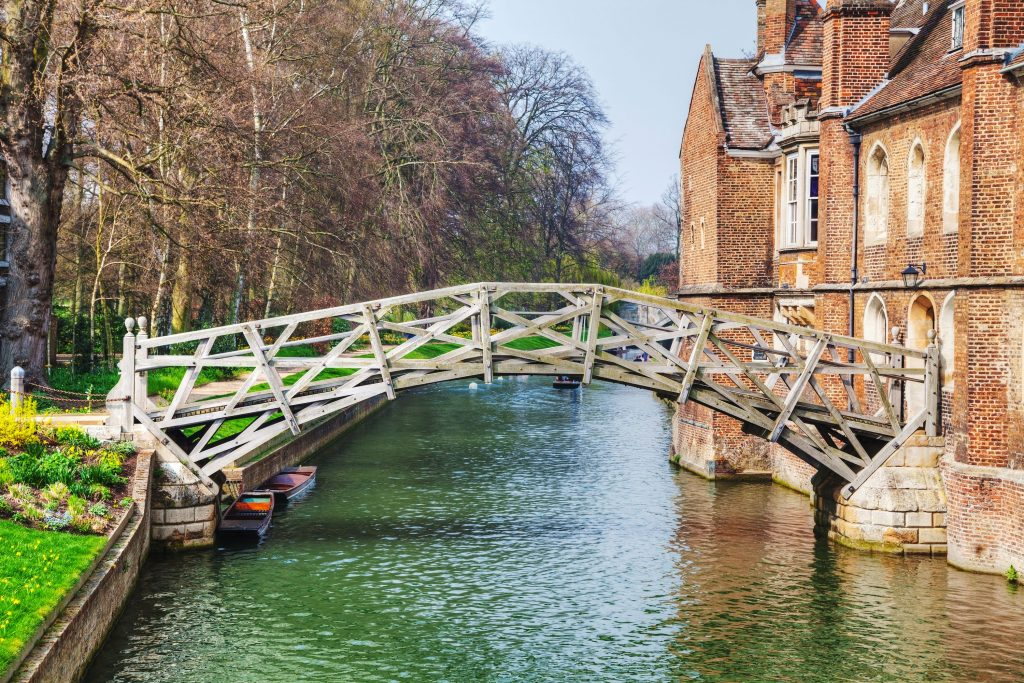The unique Mathematical bridge in Cambridge