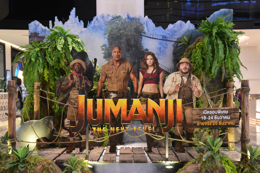 A poster for the Jumanji film production