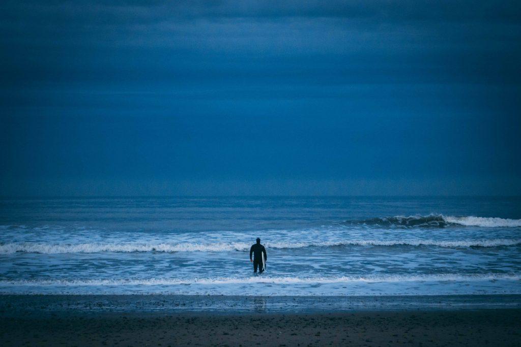 Surfing surfer Aberdeen North Sea