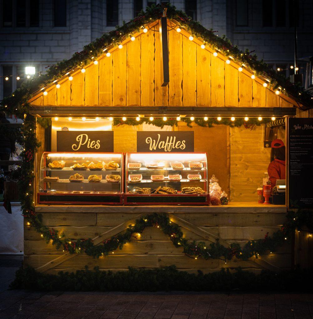 Aberdeen Christmas Village Market Street food
