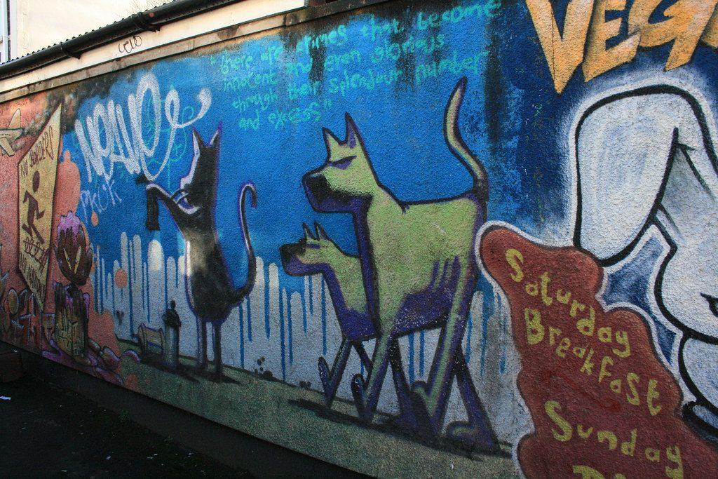 Cat and Dog epitomises Banksy's art