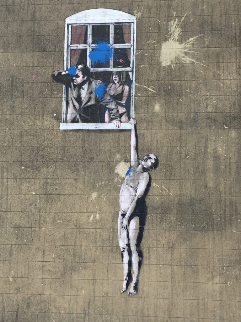 Of all Banksy locations in Bristol, this one is one of the most obvious