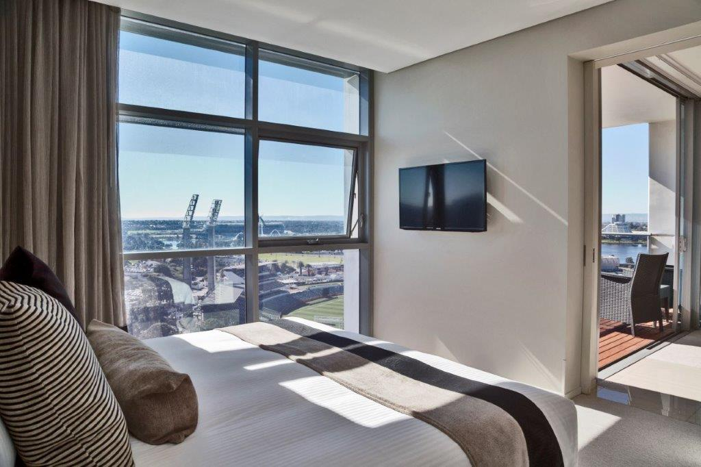Premier bedroom at Fraser Suites Perth - Citybase Apartments