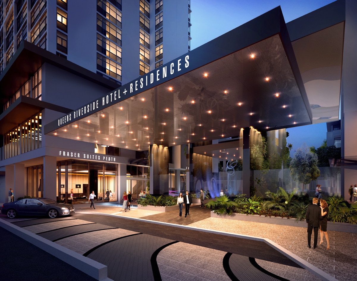 Hotel Entrance at Fraser Suites Perth - Citybase Apartments
