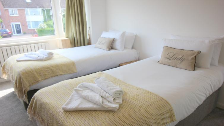 Twin beds at the Peymans Never Land Apartments - Citybase Apartments