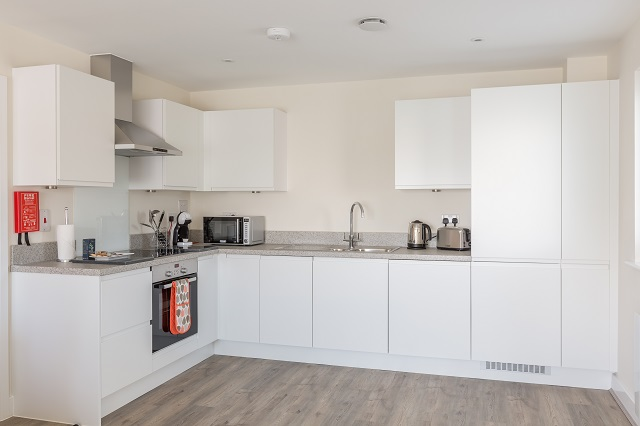 Modern kitchen at Solstice House Apartments - Citybase Apartments