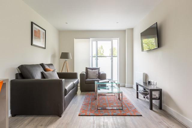 Sofa at Solstice House Apartments - Citybase Apartments