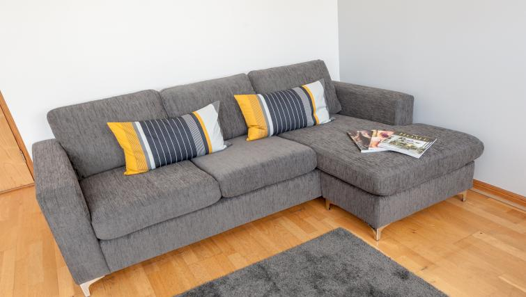 Comfortable living area at College Street Apartment - Citybase Apartments