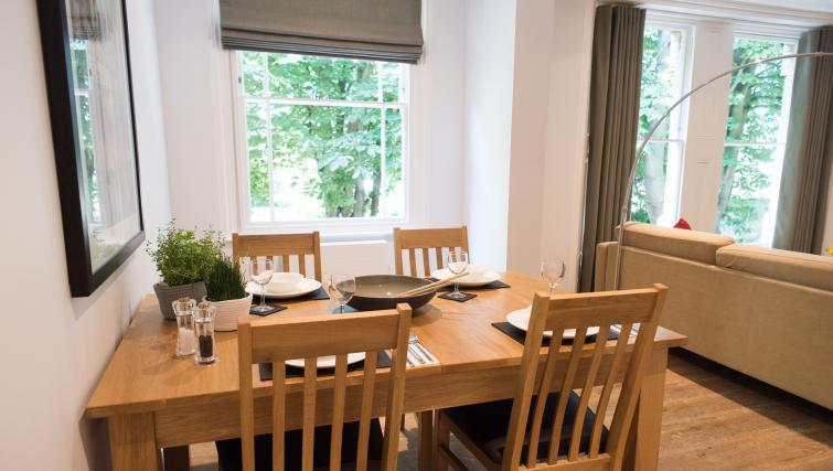 Dining table at Jubilee House Apartments - Citybase Apartments