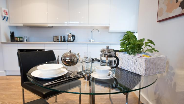 Breakfast dining area at Jubilee House Apartments - Citybase Apartments