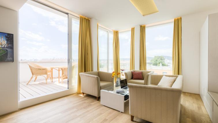Bright living area at Vienna Grand Apartment - Citybase Apartments