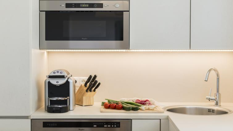 Fully equipped kitchen at Vienna Grand Apartment - Citybase Apartments