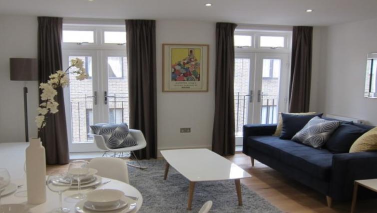 Stylish living area at Still Life Warren Street Apartment - Citybase Apartments