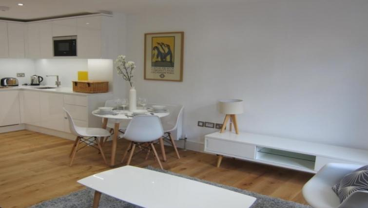 Modern kitchen at Still Life Warren Street Apartment - Citybase Apartments